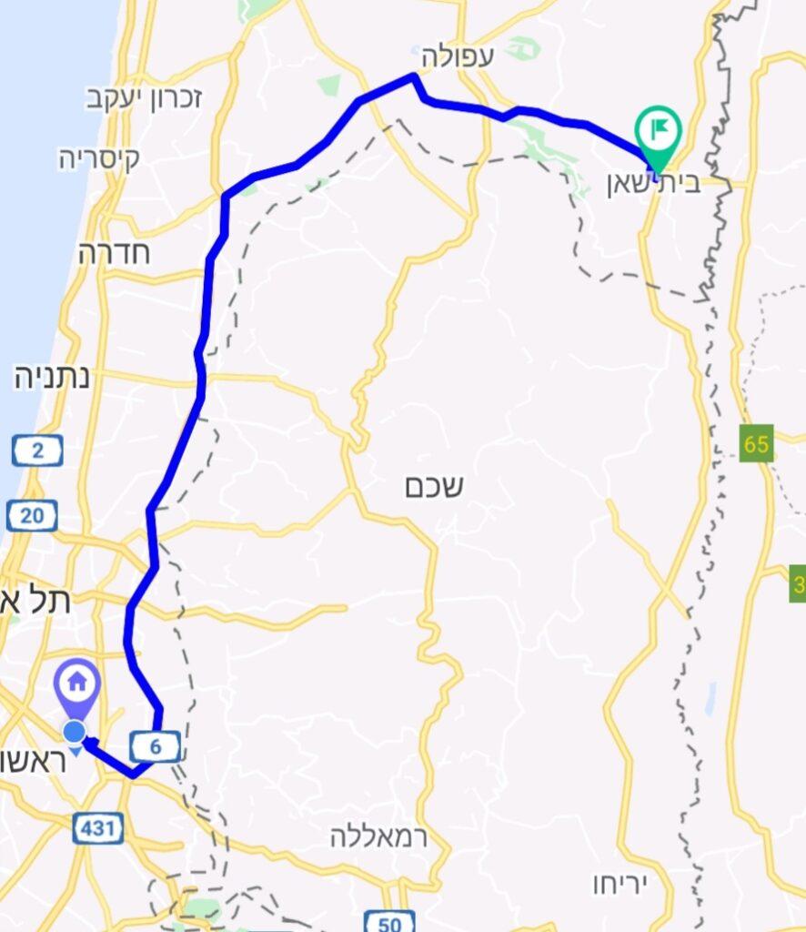מחיר מונית משדה התעופה לבית שאן