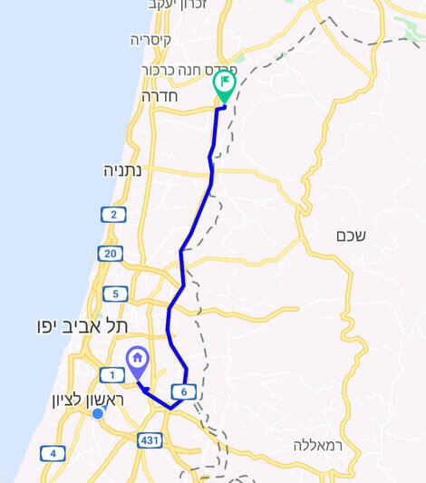 מחיר מונית משדה התעופה לבאקה אל גרביה