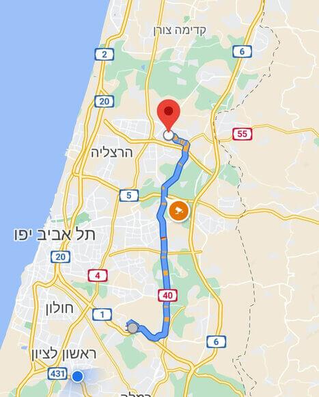 מחיר מונית משדה התעופה לכפר סבא