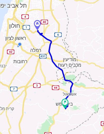 מחיר מונית משדה התעופה לבית שמש