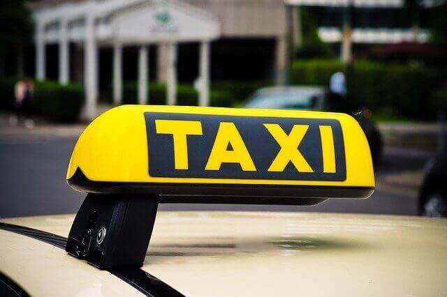 Taxi's vanaf het vliegveld