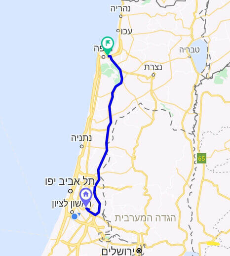 מחיר מונית משדה התעופה לחיפה