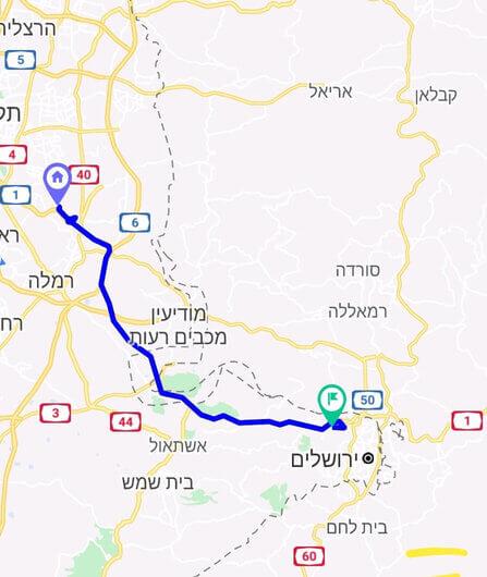 מחיר מונית משדה התעופה לירושלים